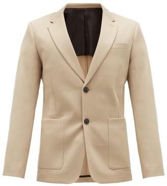 Ami Single-breasted Virgin-wool Serge Suit Jacket - Beige