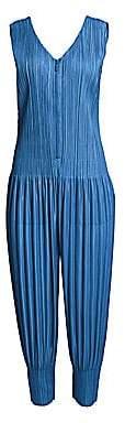 Pleats Please Issey Miyake Women's Pleated Zip-Front Jumpsuit