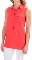 Jones New York Jones & Co Linen Shirt - Sleeveless (For Women)