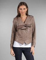 New Ruffle Leather Jacket