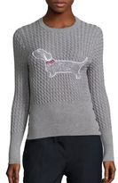 Thom Browne Cable Knit Dog Sweater