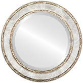 """The Oval And Round Mirror Store Monticello Framed Round Mirror in Champagne Silver, 17""""x17"""""""