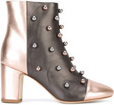 Polly Plume - studded ankle boots - women - Calf Leather/Leather - 36
