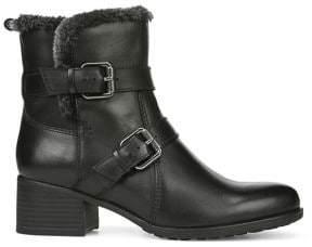 Naturalizer Deanne Faux Fur-Trim Leather Ankle Boots