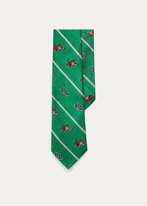 Ralph Lauren Striped RL Tiger Silk Tie