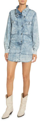 Etoile Isabel Marant Inoroa Acid-Washed Denim Shirtdress
