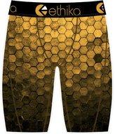 Ethika Men's The Staple Hexagon Boxer Brief Underwear Yellow Black L