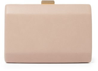 Forever New Gigi Faceted Hardcase Clutch - Nude - 00