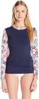 Tommy Hilfiger Women's Libby Floral Long Sleeve Rashguard