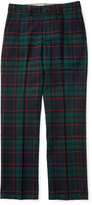 Ralph Lauren Plaid Wool Newport Pants, Black, Size 2-7