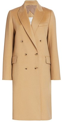 St. John Double-Breasted Wool & Cashmere Coat