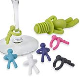 Umbra Drinking Buddy 7-Piece Wine Charms & Bottle Stopper Set