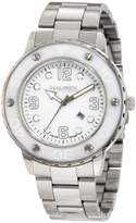 Haurex Italy Women's 7D371DWW Vivace White Dial Stainless Steel Date Watch