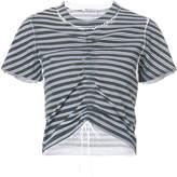 Alexander Wang ruched striped T-shirt