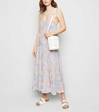 New Look Tie Dye Tiered Hem Maxi Dress