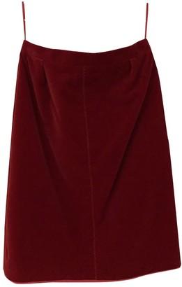 Louis Vuitton Red Velvet Skirts