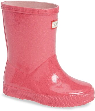 Hunter Kids First Classic Starcloud Glitter Rain Boot