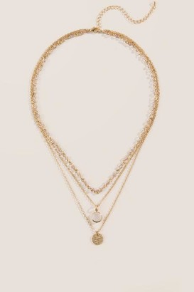 francesca's Zari Quartz Multi-Strand Necklace - Champagne