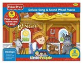 Fisher-Price Little People Bingo Song & Sound Wood Puzzle 8 pcs