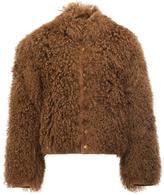 The Soloist furry bomber jacket