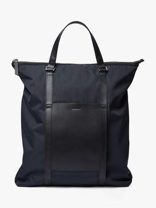 SANDQVIST Marta Recycled Nylon Tote Backpack, Black