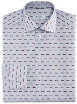 Eton of Sweden Micro Dot Race Car Print Slim Fit Dress Shirt