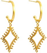 Annabelle Lucilla Jewellery Lantern Charm Hoops Gold