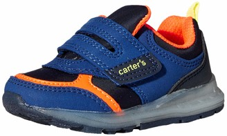 Carter's Boys' Liner Light up Hook and Loop Slip on Athletic Shoe Sneaker