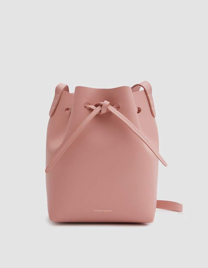 Mansur Gavriel Mini Bucket in Coral