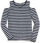 Splendid Girls' Striped Cold-Shoulder Top