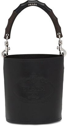 Prada Structured Handle Bucket Bag