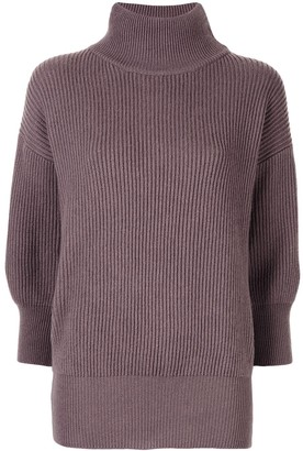 Agnona Cashmere Ribbed Turtleneck Jumper