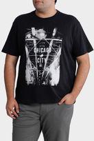 NEW Jack Stone 3XL-7XL Short Sleeve Crew Neck Chicago City Print Tee Black