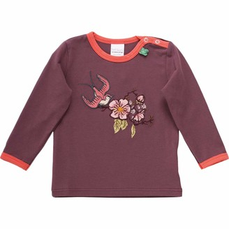 Green Cotton Fred's World by Baby Girls' Bird Front T Shirt