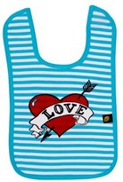 Rockabye Baby Rockabye-Baby Bib Loveheart Bib (Blue/White, One Size) by Rockabye-Baby