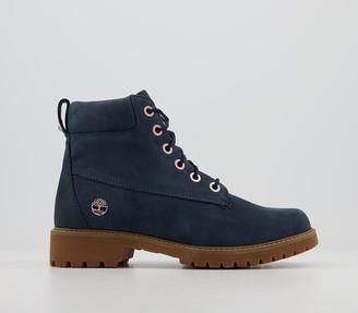 Timberland Slim Premium 6 Inch Boots Black Iris Nubuck