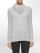 Calvin Klein Cotton Modal Cowl Neck Sweater