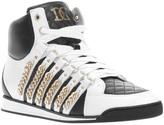 DSquared DSQUARED2 chain detail hi-top sneakers