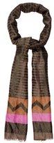 Etro Wool-Blend Metallic-Accented Scarf