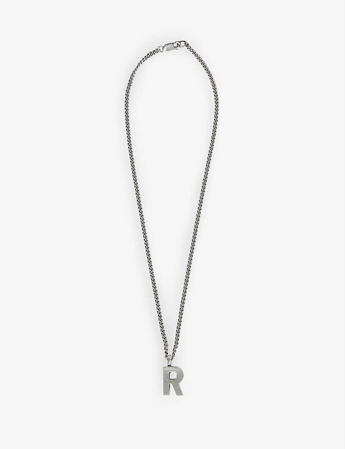 Thumbnail for your product : Raf Simons Archive Redux R pendant silver necklace
