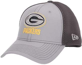 New Era NFL Grayed Out NEO 39THIRTY Flex Fit Cap - Green Bay Packers (Gray/Black) Baseball Caps