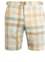 Oliver Spencer Checked-print cotton-blend shorts