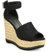 Stuart Weitzman Sohojute Linen Espadrille Wedge Sandals