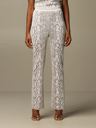 Missoni Pants Wide Trousers In Marbled Viscose