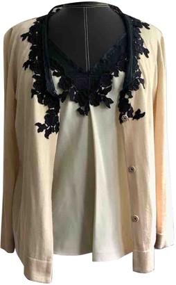 Alberta Ferretti Beige Cotton Knitwear for Women