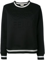 Fendi embossed logo sweatshirt - women - Silk/Cotton/Polyamide - 40