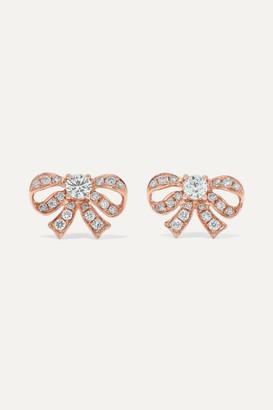 Anita Ko Bow 18-karat Rose Gold Diamond Earrings - one size