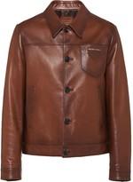 Prada waxed overshirt jacket