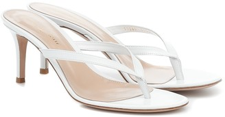 Gianvito Rossi Calypso 70 leather thong sandals
