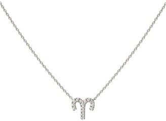 Engelbert White Gold And Diamond Zodiac Aries Necklace